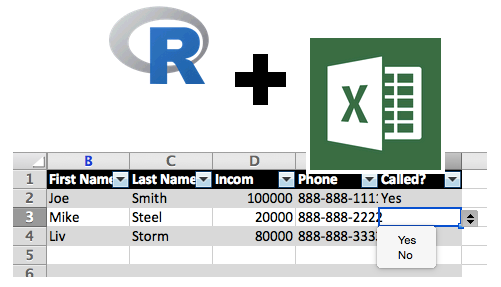 R and Excel