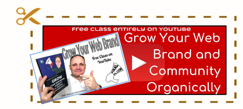 How to grow you web brand Udemy class